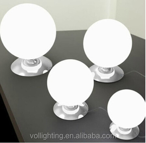 Modern decorative round ball white glass Table Lamp on sale