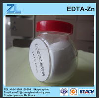 EDTA ZnNa2, Zn metal chelated micronutrients fertilizer for agriculture horticulture chemicals, white powder, Zinc 15%