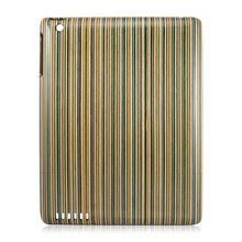high quality fashion rainbow wood case for ipad mini,rainbow wood case