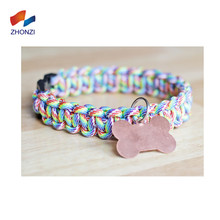 550 Lbs Rainbow Paracord Quick Release Pet Collar Buckle For Dog Collar