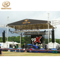 Aluminum performance stage lighting roof truss system