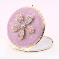 Butterfly & Flower Pattern Make Up Compact Mirror Women 2 Side Fold Pocket Mirror sold