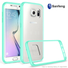 Mobile accessories 2 in 1 TPU bumper + Hard Plastic Acrylic back cover case for Samsung galaxy s7 edge
