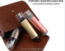 AAA battery powered Instant stain handy washer briefcase bottle porket portable mini washing machine