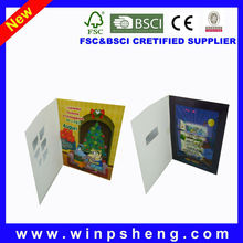 lcd video brochure card/lcd video greeting card
