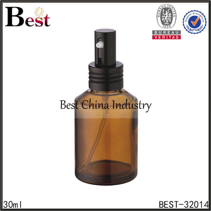new products fashion designed custom hot stamping glass spray oil bottle wholesale 30ml