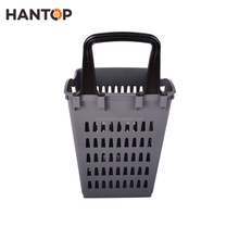 New design plastic trolley basket with hand holder HAN-TB09 4565