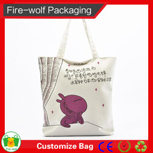China Supplier Wholesale Promotional Recyclable Tote Organic Cotton Shopping Bag With Customized Logo