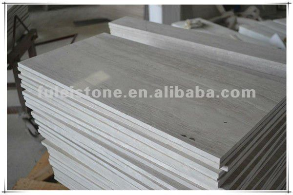 polished white wooden marble tiles for flooring