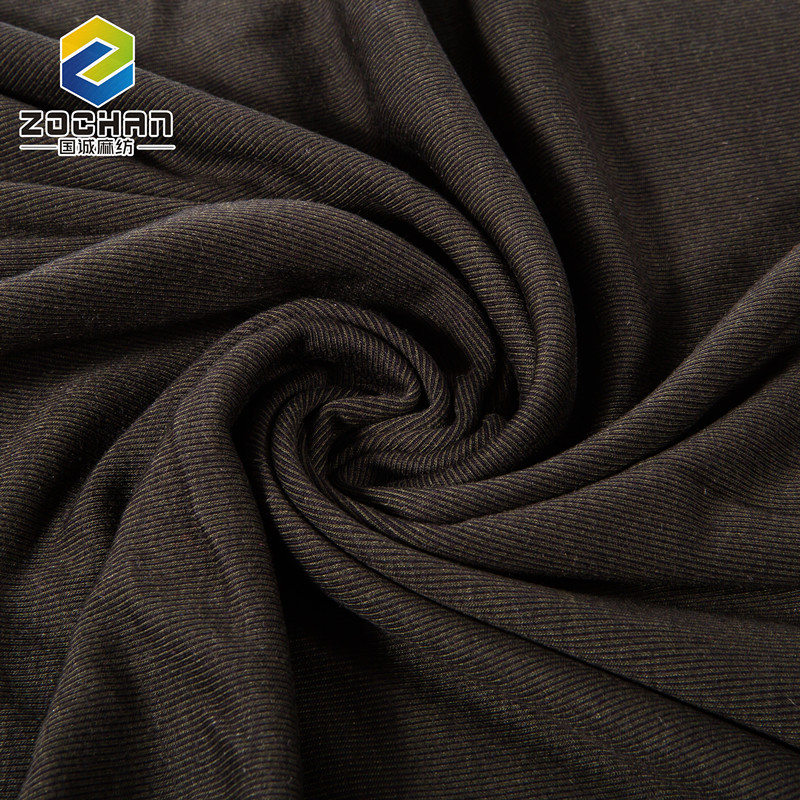 Good quality Thick Brown plain dyed cotton 100 acrylic knitted fabric
