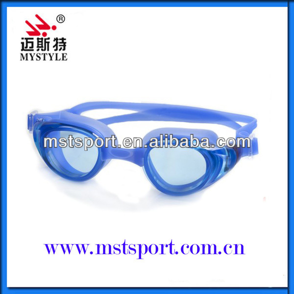 2015 fashion new Blue adult custom swimming goggles