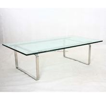 furniture living room rectangle fiberglass stainless steel coffee table with cheap price