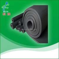NBR/PVC elastomeric black heat rubber insulation tube for HVAC and refrigeration system