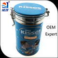 Round coffee tins with lock, air-tight coffee tin, metal coffee tin packing wholesale