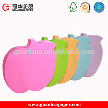 Cheap custom fruit shaped magnetic sticky notes