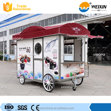 Stainless steel mobile car for food