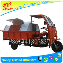 China KAVAKI Factory Export Zongshen Engine Garbage Cleaner Loading Tricycle