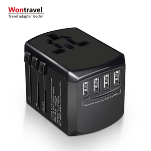 2018 Hot sale universal travel adapter world adaptor smart 4USB fast charger universal plug socket usb travel charger