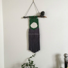 Macrame hand Knotted Wall Hanging, Art, Tapestry, Boho Home Decor.