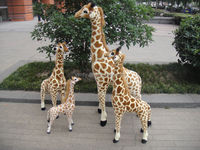 2016 wholesale custom lifelike giraffe plush toys for children