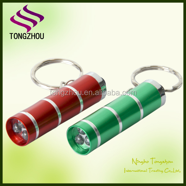 3 LED mini torch light,3 led keychain light,Mini LED keyring