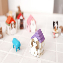 Office supplies school house kawaii Dog Puppy cartoon sticky notes creative stationery notepad filofax memo pads