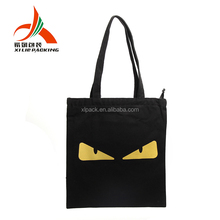 grocery cotton calico tote bag with custom printed logo