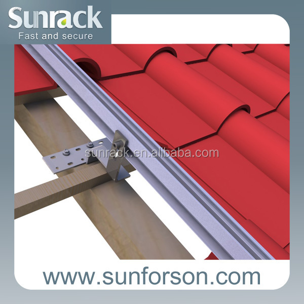 solar roof hook for panel fixing
