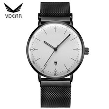 Curved domed mineral glass watches online wholesale china factory new design watch with changeable mesh strap