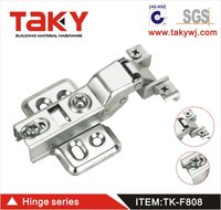TK-F808 Soft Close Cabinet Door Hinge Hydraulic FOR ALUMINIUM/METAL FRAME Clip-on 35mm