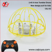 2016 Best toys for kids mini quadrocopter 2.4G 6 Axis gyro RC 4-blades helicopter with tumbler mode