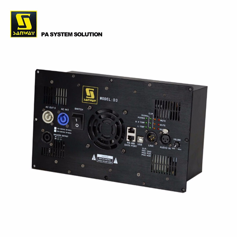 D3 1800W 4ohms Speaker Power Amplifier Module Class D With DSP