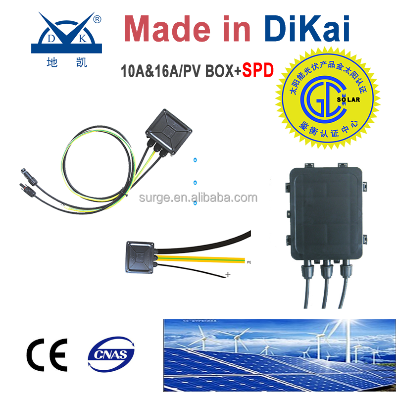 DC SPD solar panel system for home/DC Power SPD /Solar PV array junction boxes added between PV system modules and inverters
