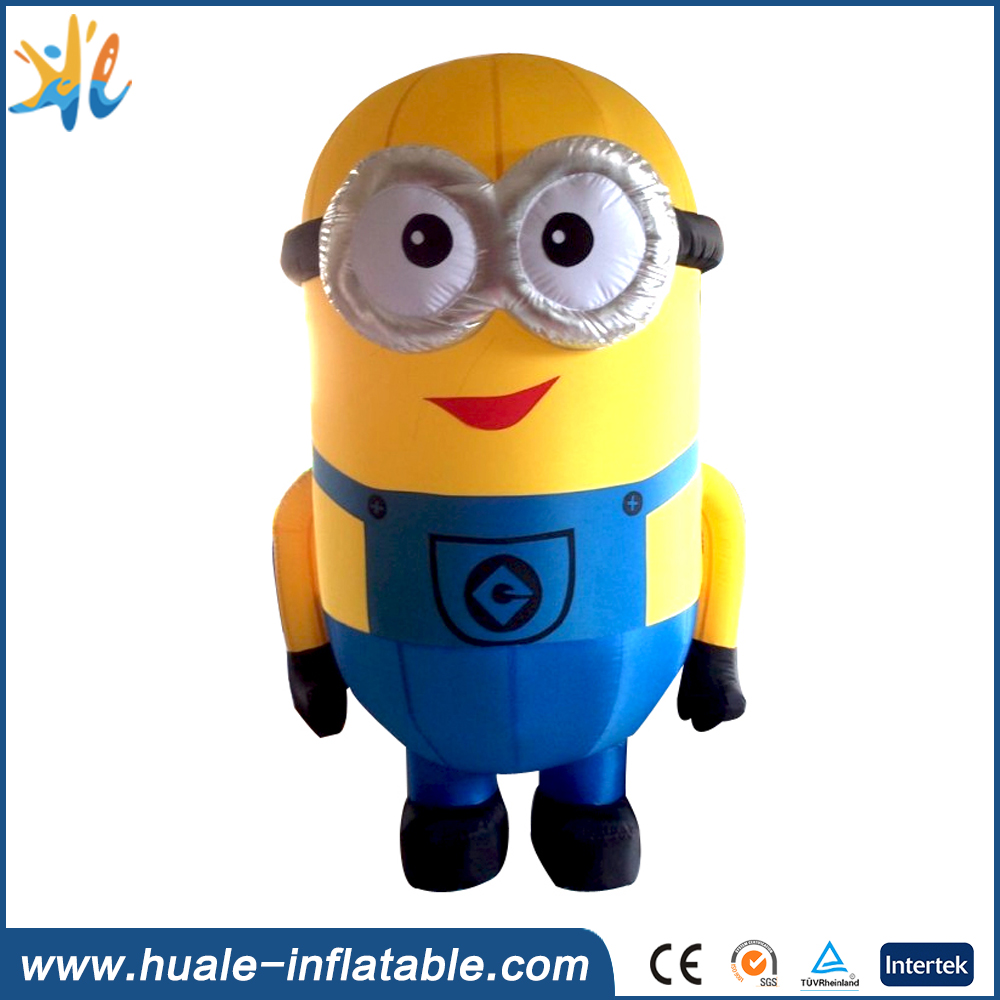 2m-10m customized minions inflatable cartoon characters for sale