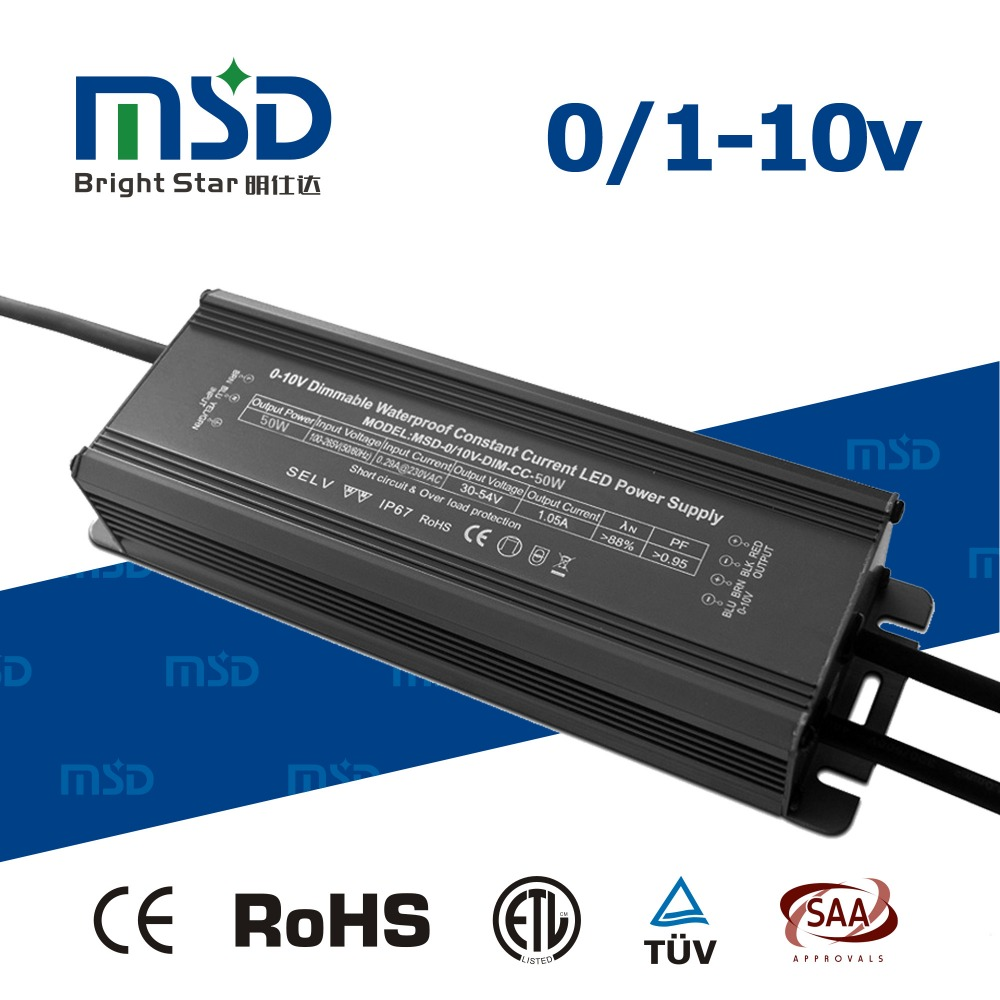 Constant current 50W CC led driver high power 0-10v dimmer driver