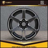 ZUMBO S0034-Semi Matt Black Mill Spoke Aluminium Wheel