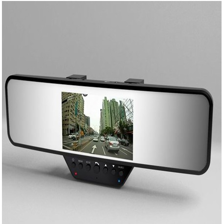 3.5 inch Screen Rearview Mirror Dual Lens Car DVR Portable Car DVR with View Angle 220 wide angle