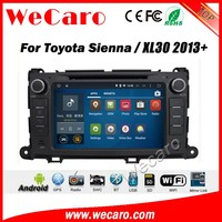 Wecaro WC-TS8023 android 5.1.1 car navigation system for toyota sienna /xl30 2013 + car dvd gps radio stereo WIFI 3G Playstore