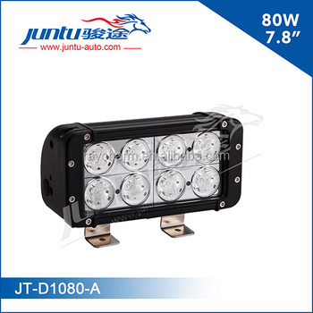 Juntu snowmobile dual row 7.8inch 12v CREE 80w auto led drive light bar