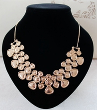 Simple fashion gold silver pave point bib necklace women jewelry bulk overstock wholesale lots discount