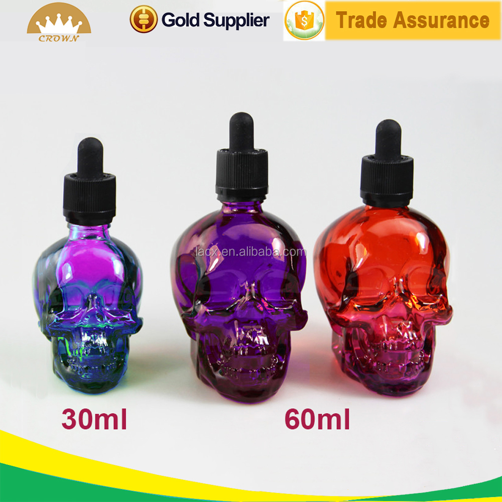 Skull Shape New Design 30ml/60ml/120ml Glass Dropper Bottle For Essention Oil / Perfume