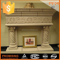 natural marble hand made japanese style fireplace