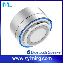Zyiming round shape bluetooth active amplifier mini metal wireless speaker