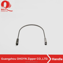 Gun zinc alloy leather bag handles in guangzhou factory