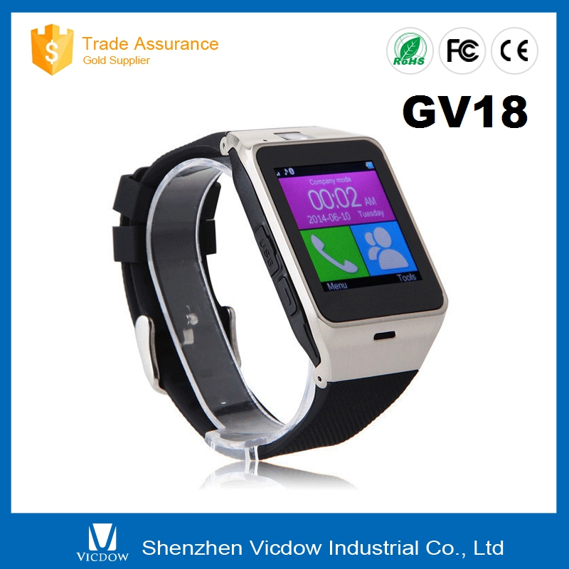 GV18 Smart bluetooth watch with Camera wrist Watch SIM card for and IOS and Android