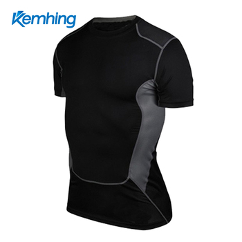 wholesale fitness clothing men fitness clothing For Dri Fit Slim Tit Short Sleeve fitness shirt