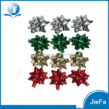 PP Green And Red Ribbon Star Bow