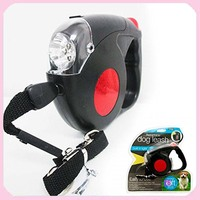Wholesale Free Shipping 5M Retractable Dog Leash with LED Lights