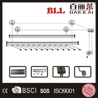 Baililai durable best price hanging rotating aluminum ceiling mounted clothes drying rack