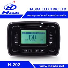 "Waterproof fittings 3.0"" display radio marine with USB BT RCA AUX for boats"